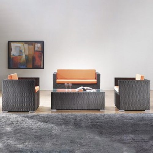 Rattan couch adds luxury to your living room