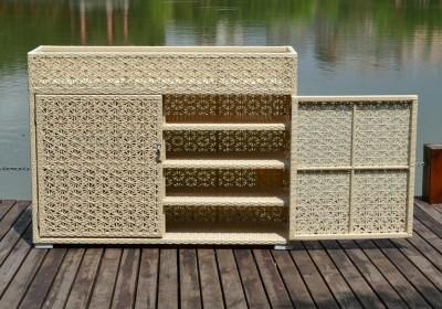 Rattan garden kitchen cabinets